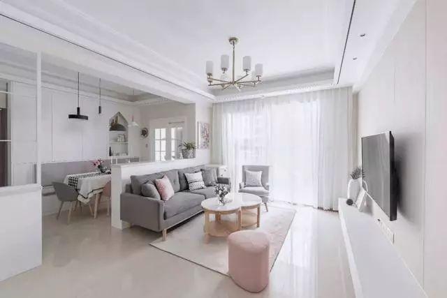 120平北欧风简约三居室设计