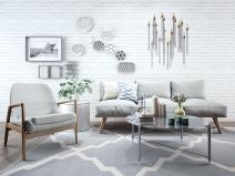 现代北欧休闲沙发椅子组合3D模型+效果图