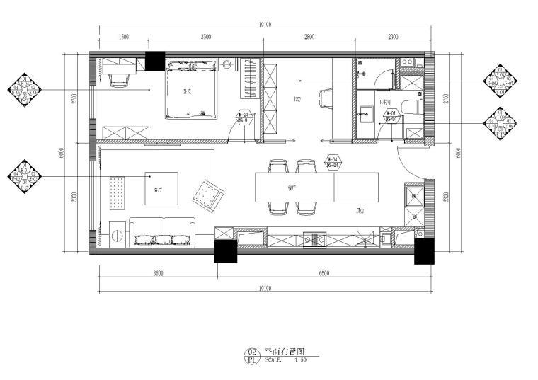 现代风格公寓型住宅设计施工图