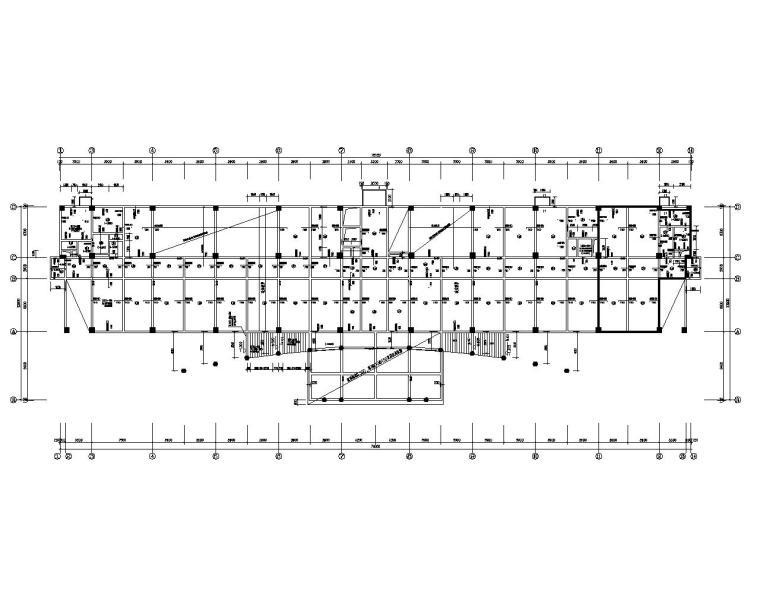 标准七层框架结构办公楼施工图(CAD)