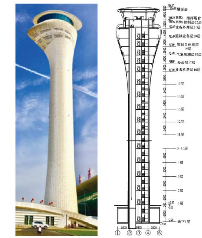 武汉天河国际机场新塔台结构设计