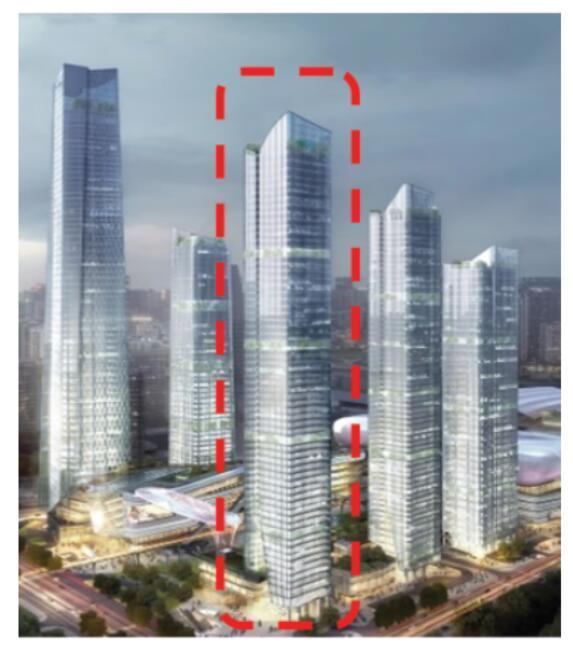 超高层公寓楼结构体系选型及大偏心节点分析