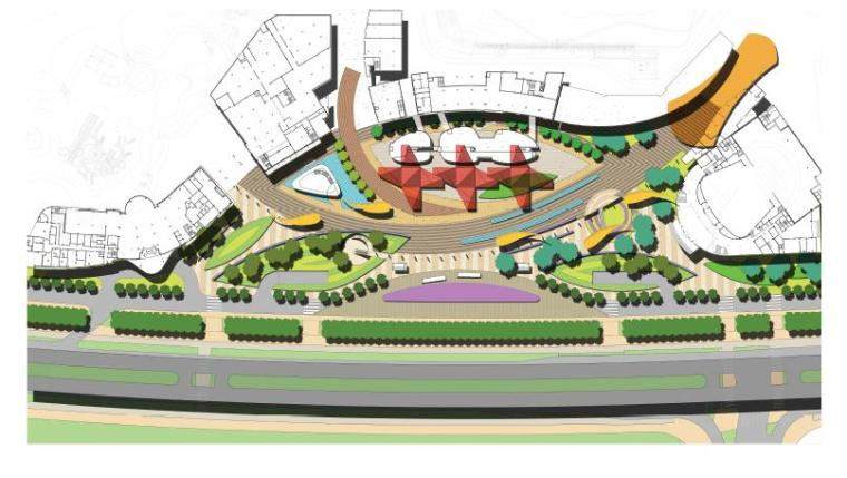 [湖北]武汉现代风格商业广场景观设计方案
