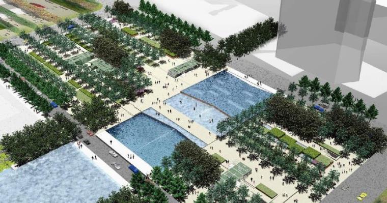 [浙江]宁波中央广场公园景观设计方案