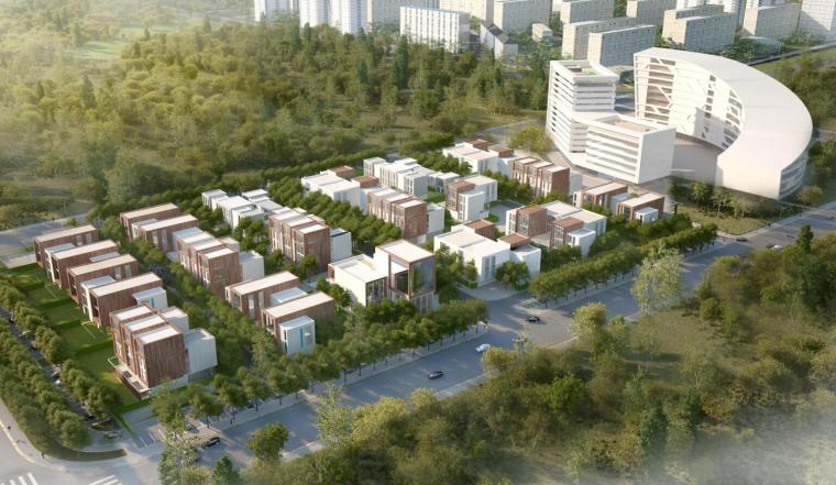 [湖北]武汉临空新城空港中心建筑方案设计