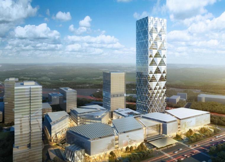 知名企业现代流线商业办公建筑方案设计