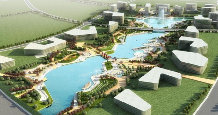 [江苏]南京现代风格中央商务区景观设计方案
