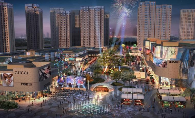 商业广场景观效果图
