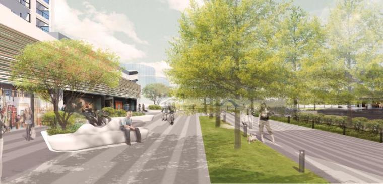 商业广场景观效果图3