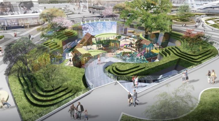 商业广场景观效果图4
