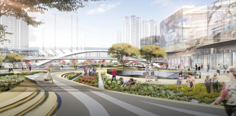 商业广场景观效果图5