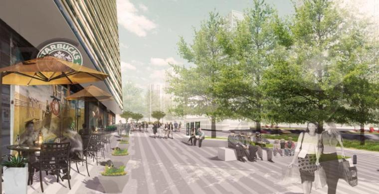商业广场景观效果图8