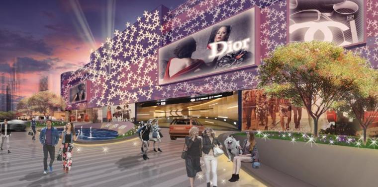 商业广场景观效果图7