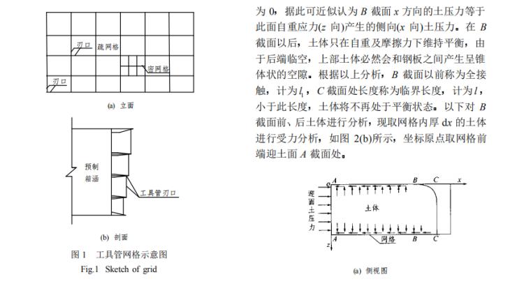 箱涵顶进工具管网格自平衡设计理论研究