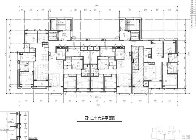 4-26层平面图