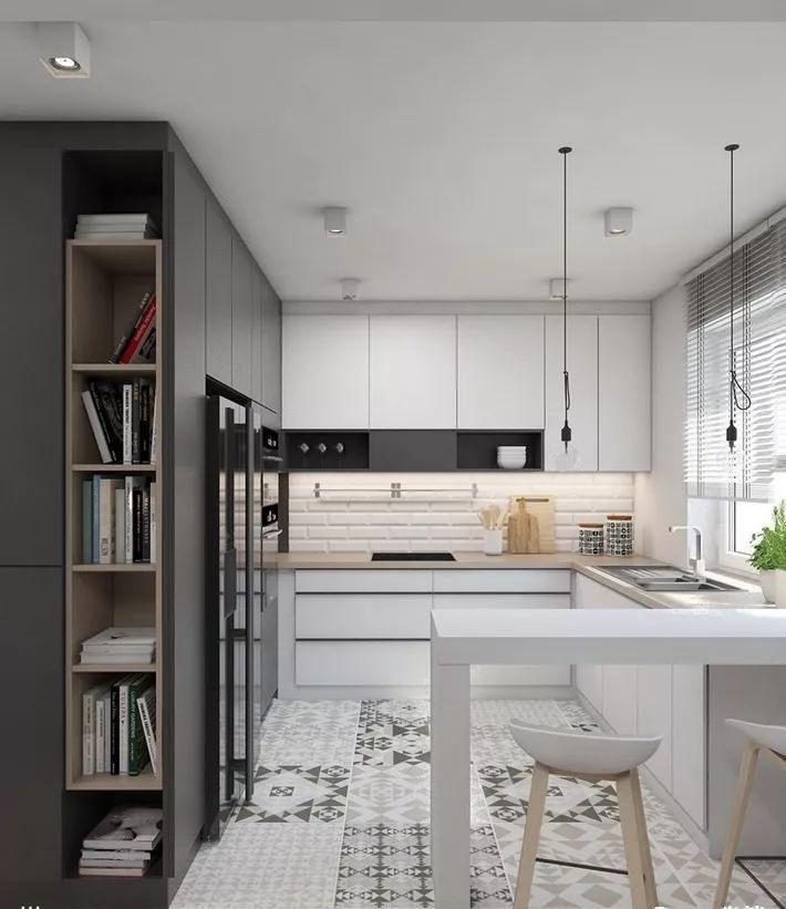现在厨房瓷砖已经不流行通铺了!_11
