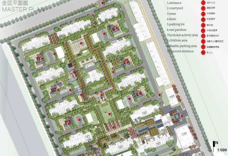 [北京]现代风格住宅景观设计方案