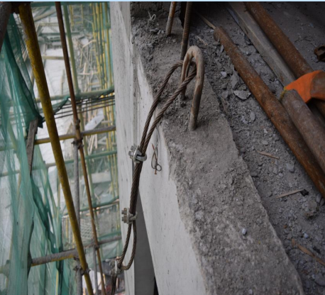 悬挑外架卸载钢丝绳锚固施工方法创新