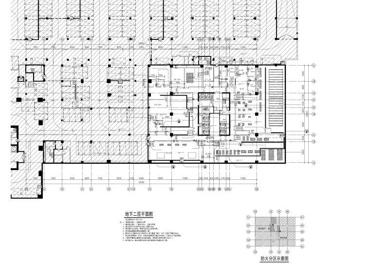 地下二层平面图