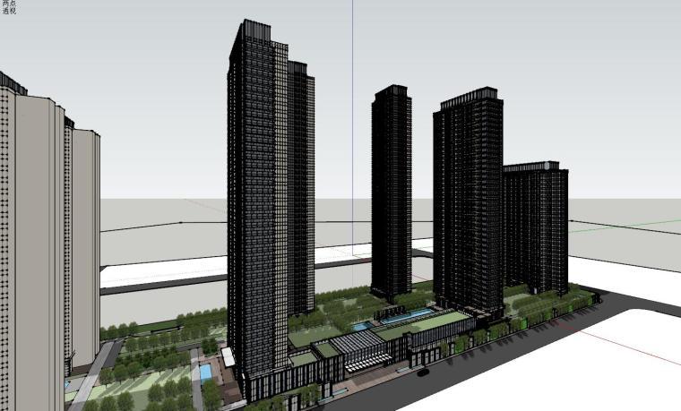湖北知名企业现代高层豪宅建筑模型设计 (3)