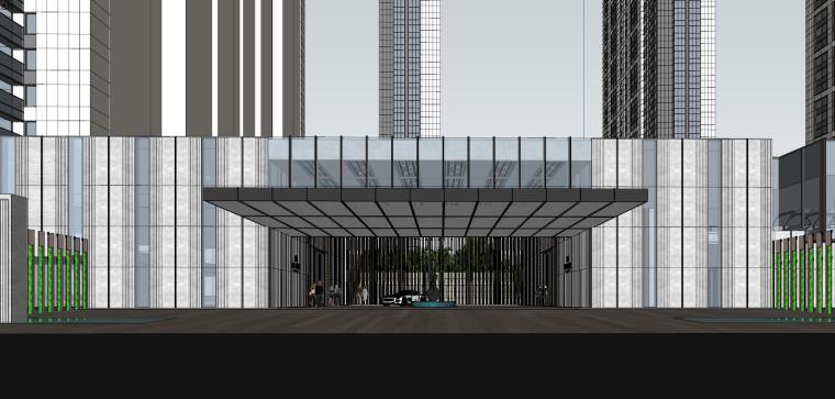湖北知名企业现代高层豪宅建筑模型设计 (4)