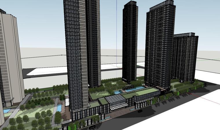 湖北知名企业现代高层豪宅建筑模型设计 (2)