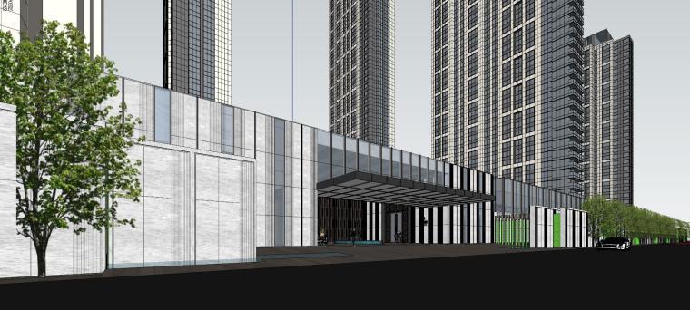 湖北知名企业现代高层豪宅建筑模型设计 (6)