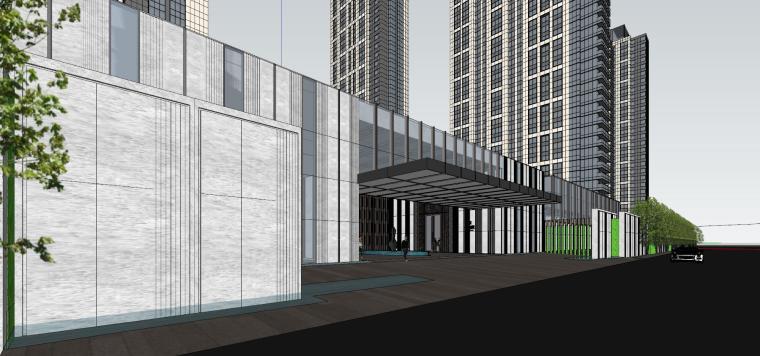 湖北知名企业现代高层豪宅建筑模型设计 (5)