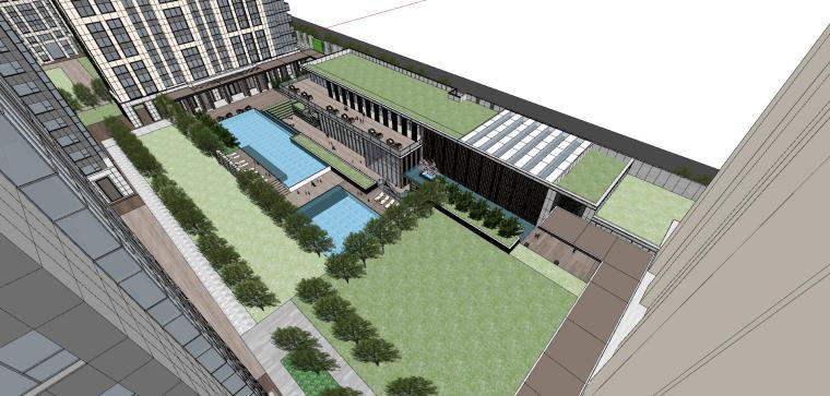 湖北知名企业现代高层豪宅建筑模型设计 (9)