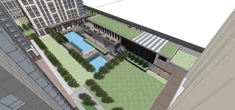湖北知名企业现代高层豪宅建筑模型设计 (8)