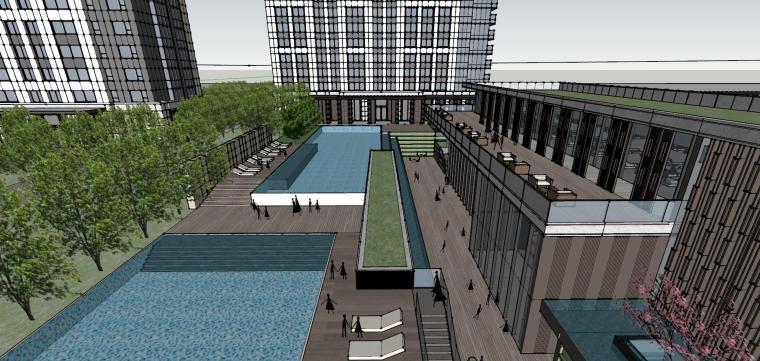 湖北知名企业现代高层豪宅建筑模型设计 (11)