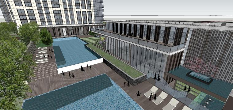 湖北知名企业现代高层豪宅建筑模型设计 (12)