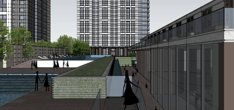 湖北知名企业现代高层豪宅建筑模型设计 (14)