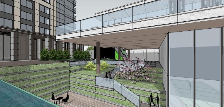 湖北知名企业现代高层豪宅建筑模型设计 (15)