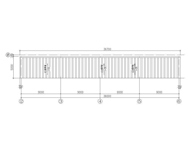 某5m悬挑雨蓬钢结构施工图(CAD)