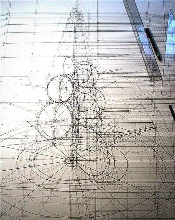 理工男花40年时间,用圆规画1000张画_31