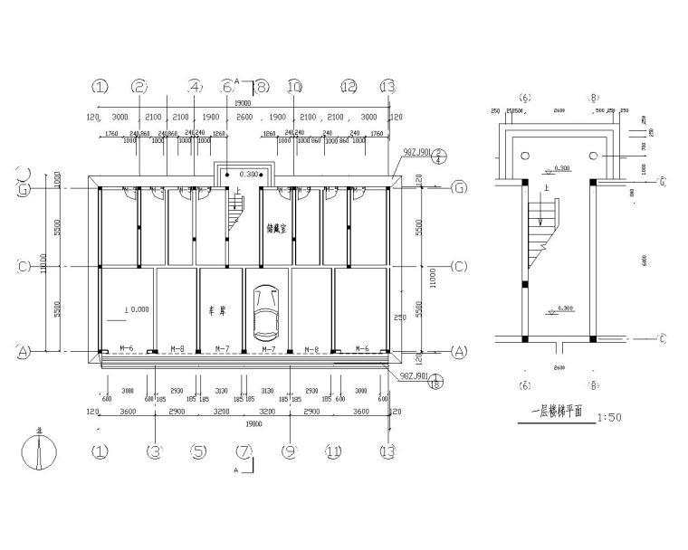 某五层住宅砖混结构施工图(CAD含建筑图)