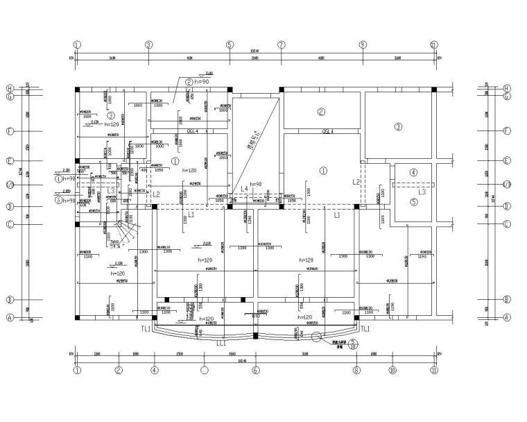 六层带阁楼砖混结构住宅施工图(CAD)