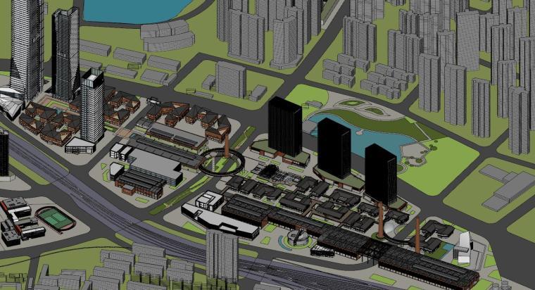 知名企业汉阳铁厂旧改总体规划设计-红砖 (2)