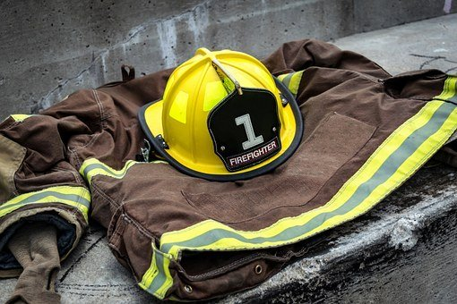 消防员, 职业, 领导, 志愿者, 统一, 救援, 头盔, 紧急, 工作, 保护