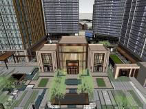 知名企业晴川府豪宅总体建筑模型设计