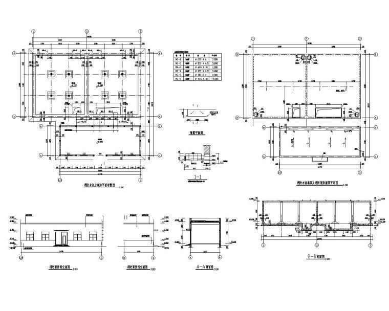 消防水池及泵房设计详图资料下载-消防水池及泵房混凝土结构施工图(CAD)