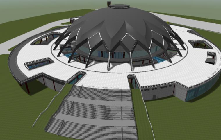 bim一级考试第二期解析资料下载-湖南省大型体育馆全BIM设计(图文并茂)