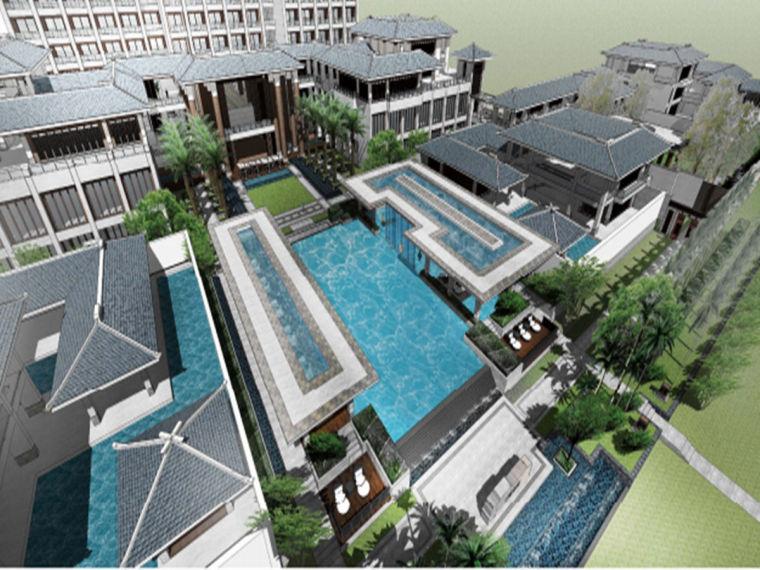 海南三亚酒店新中式景观方案设计