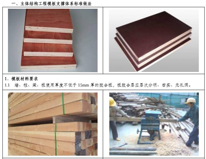 主体结构工程模板支撑体系标准做法