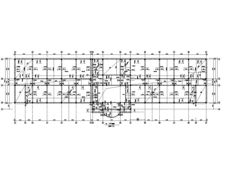 五层教学楼混凝土框架结构施工图(CAD)
