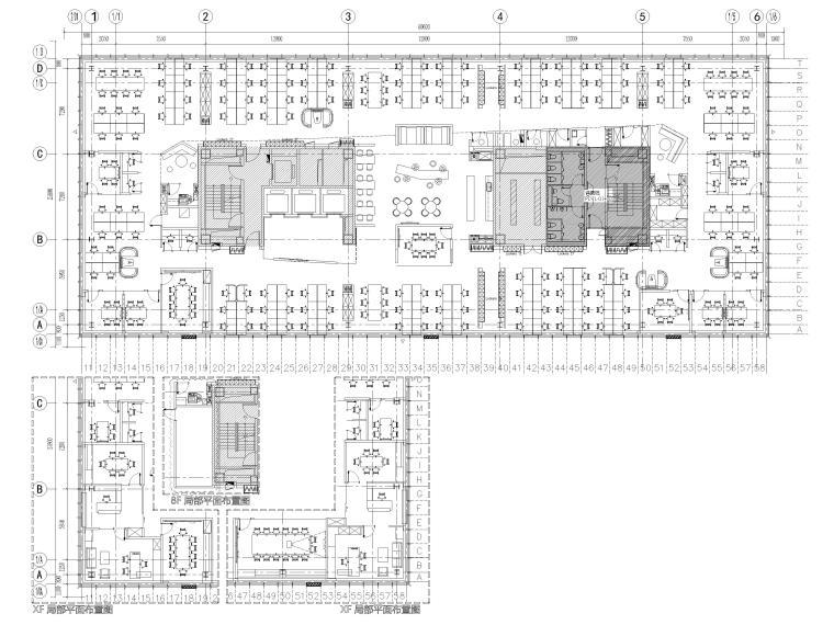 [上海]YUM中国总部办公室全套施工图+效果图