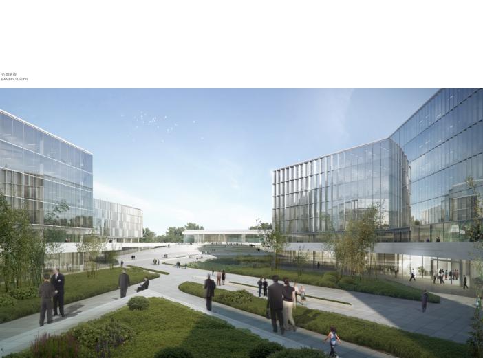 华为成都产业园区二期建筑设计方案文本2019-竹园透视