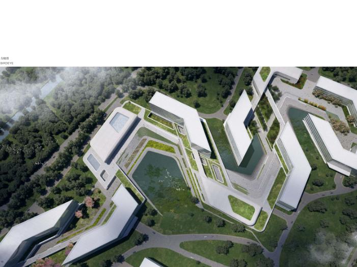 华为成都产业园区二期建筑设计方案文本2019-鸟瞰图2