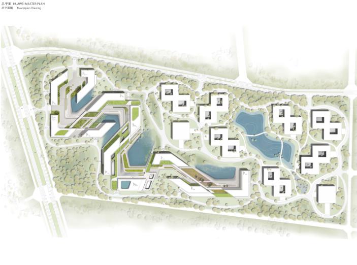 华为成都产业园区二期建筑设计方案文本2019-总平面图